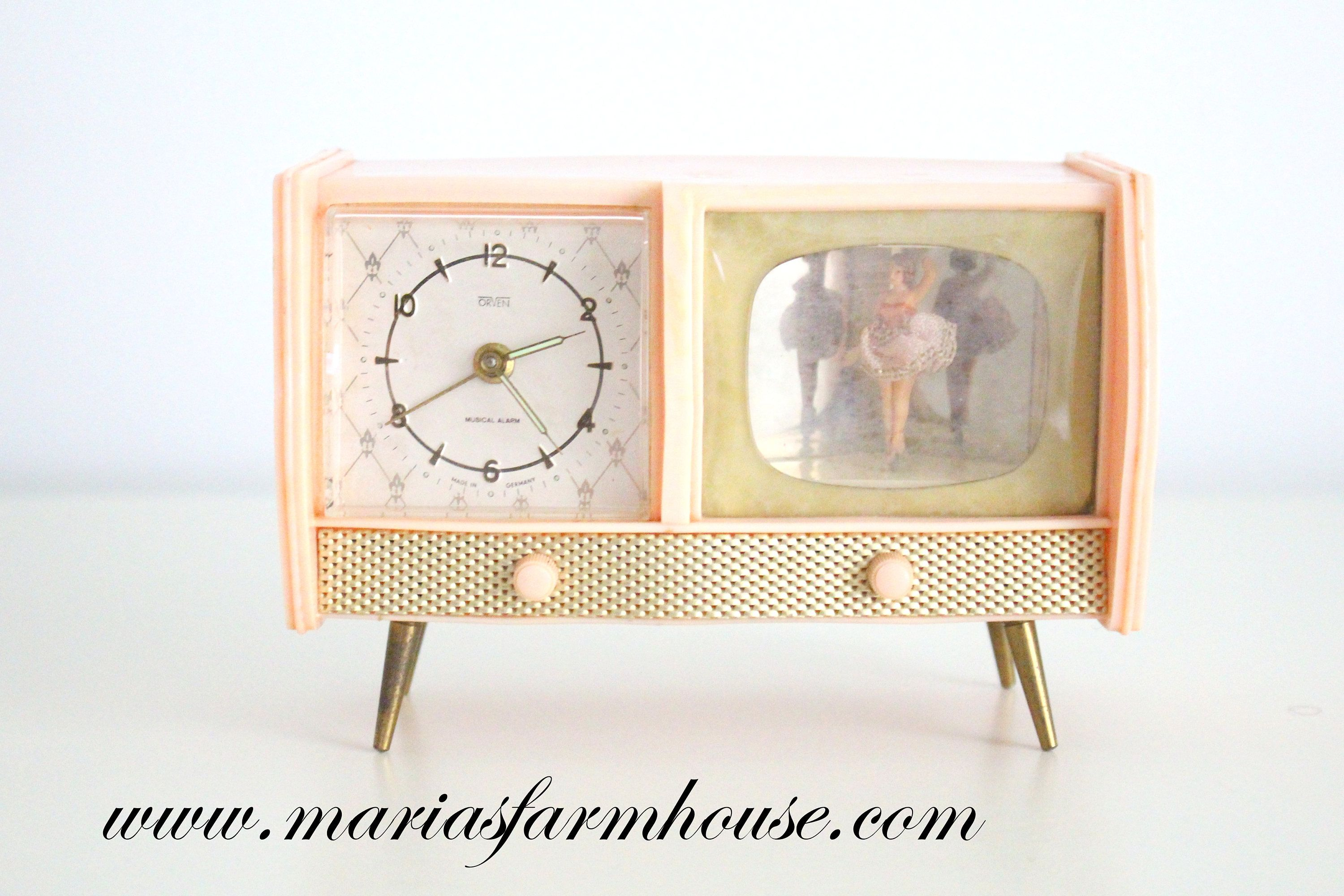 RARE CLOCK, Vintage Footed, TV Alarm Clock with Dancing ...