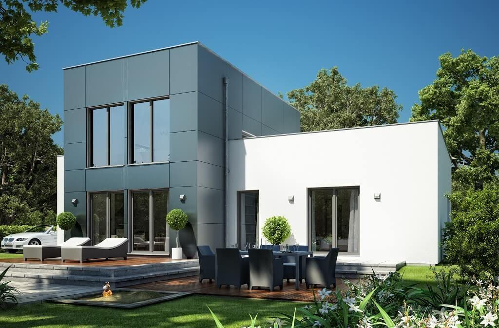 Modernes DESIGNHAUS Bauhausstil | Haus Evolution 111 V5 Bien Zenker | Einfamilienhaus  Modern Bauen Mit Flachdach