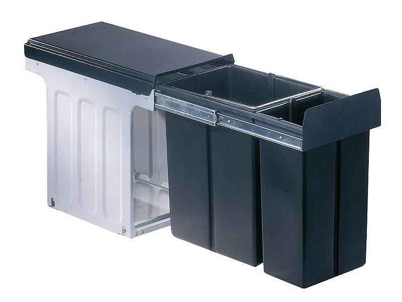 Der Einbaumülleimer Wesco Profiline Bio-Double 30 DT mit 1 x 10 - küchen mülleimer einbau