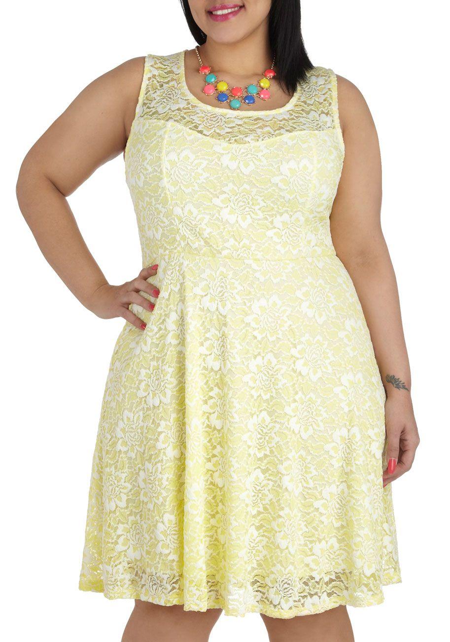 yellow plus size dress