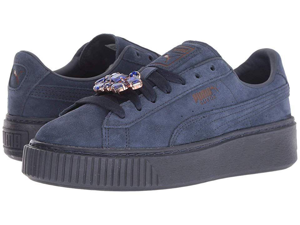 ddf8e83705ef PUMA Suede Platform Gem (Peacoat Peacoat) Women s Lace up casual Shoes.  Elevate