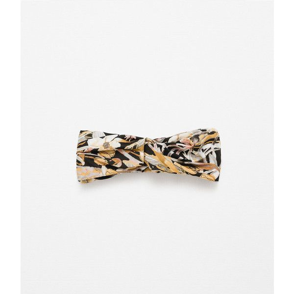 Zara Turban Style Hairband With Floral Motifs and other apparel, accessories and trends. Browse and shop 3 related looks.
