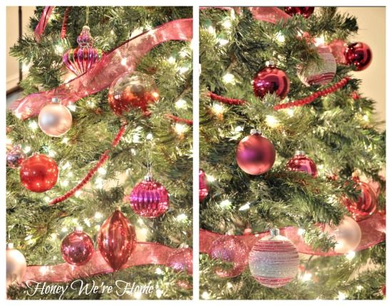 Red and pink Christmas tree via Honey We're Home
