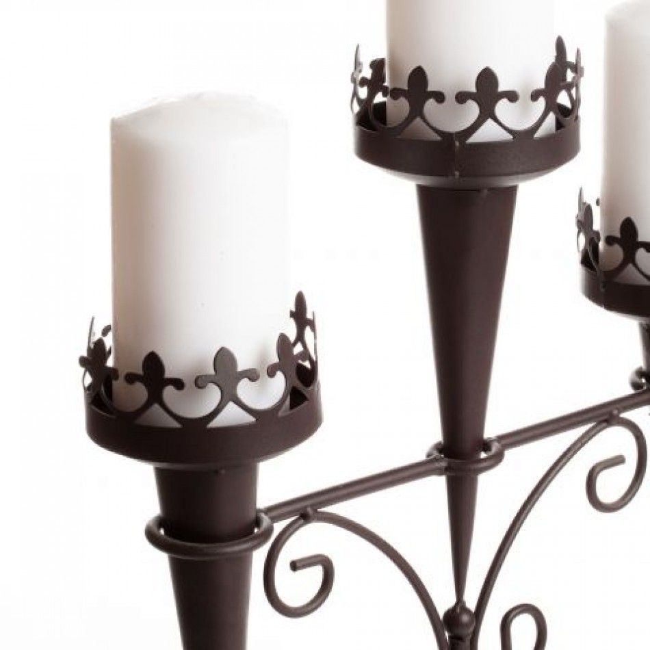 medieval triple candle stand 14114 triple candle stand wholesale wedding supplies discount