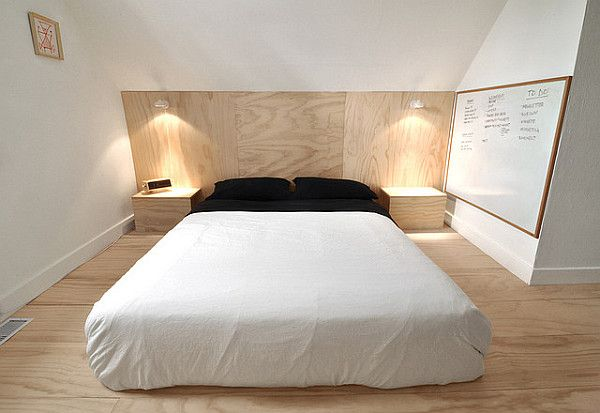 Plywood Flooring Four Step Plan To Affordable Flooring Plywood Flooring Plywood Headboard Bedroom Flooring