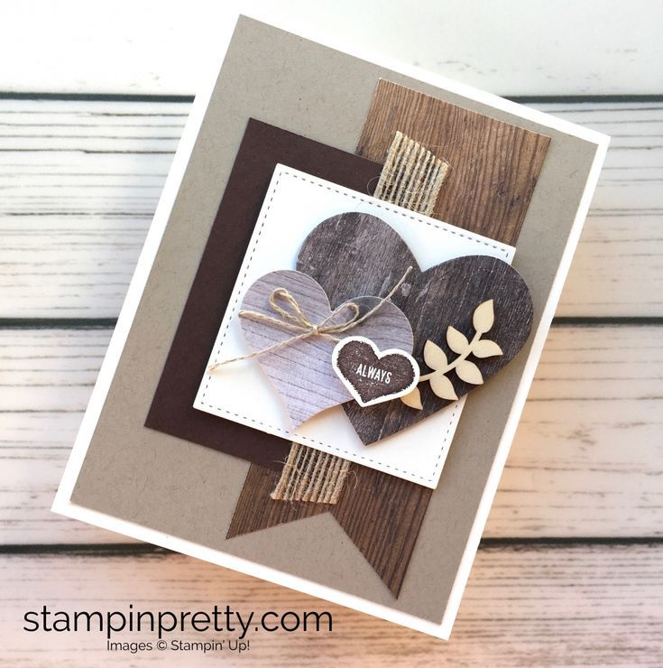 Rustic Charm for a Masculine Valentine's Day Card #learning