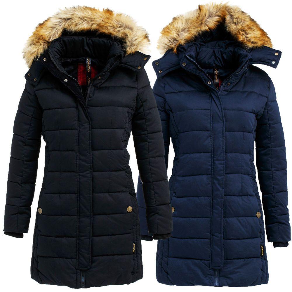 Navahoo Jessica Damen Jacke Winter Stepp Mantel Warm Winterjacke Damenjacke  Lang e5e16b25d5