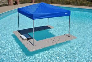 What a great idea! A floating bar for the pool! Well that is a whole lotta awesome!