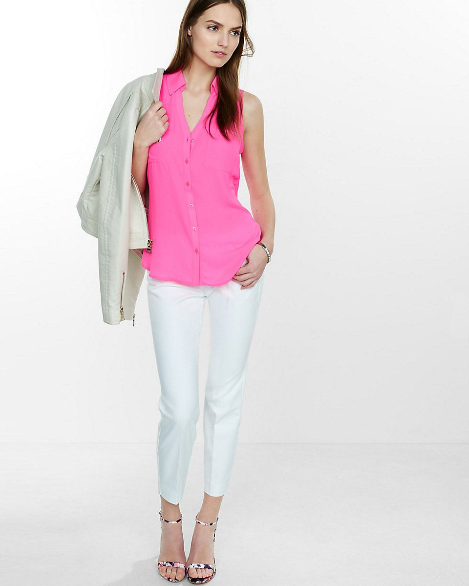 original fit sleeveless portofino shirt