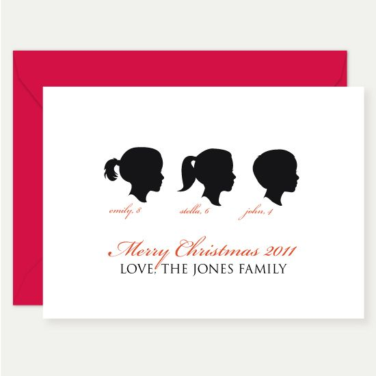 Christmas silhouette cards! Wish I could think of a reason to use