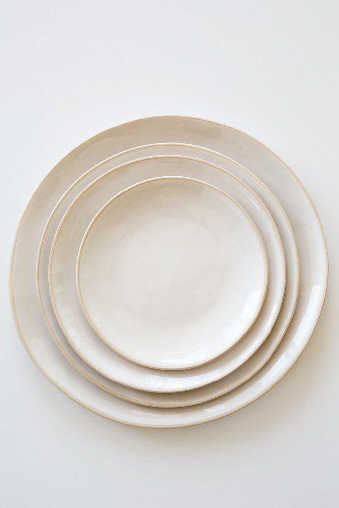 wonki ware white dinner plates