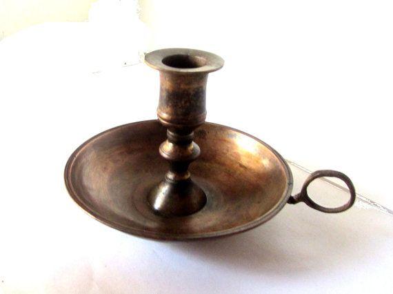 c7130bf48959b Old metal candle holder. Old copper candle holder. Antique metal ...