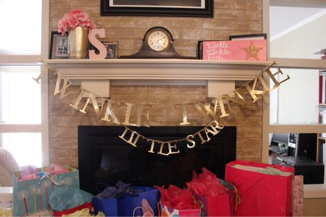 First Birthday Party; Twinkle Twinkle Little Star; Pink and Gold; Breakfast Party