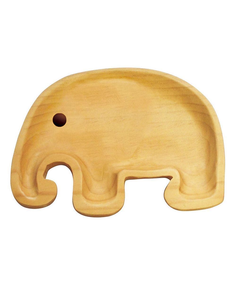 Wooden Elephant Plate | Petits Et Maman