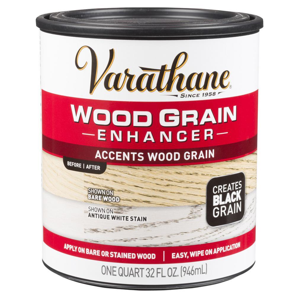 Varathane 1 Qt Black Wood Grain Enhancer 2 Pack Wood Grain Black Wood Wood