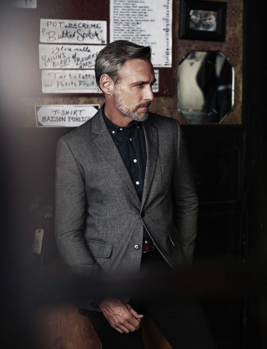 Grey blazer menus fashion u accessories iud wear daily pinterest