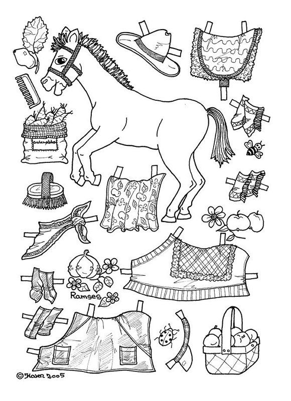 apples pony paper doll coloring page. There are a number of ...
