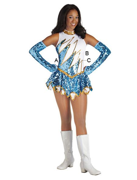 87cd7a6a1079 Majorette Costume (Spiked Dress) | Drum and Lyre Uniforms | Dance ...