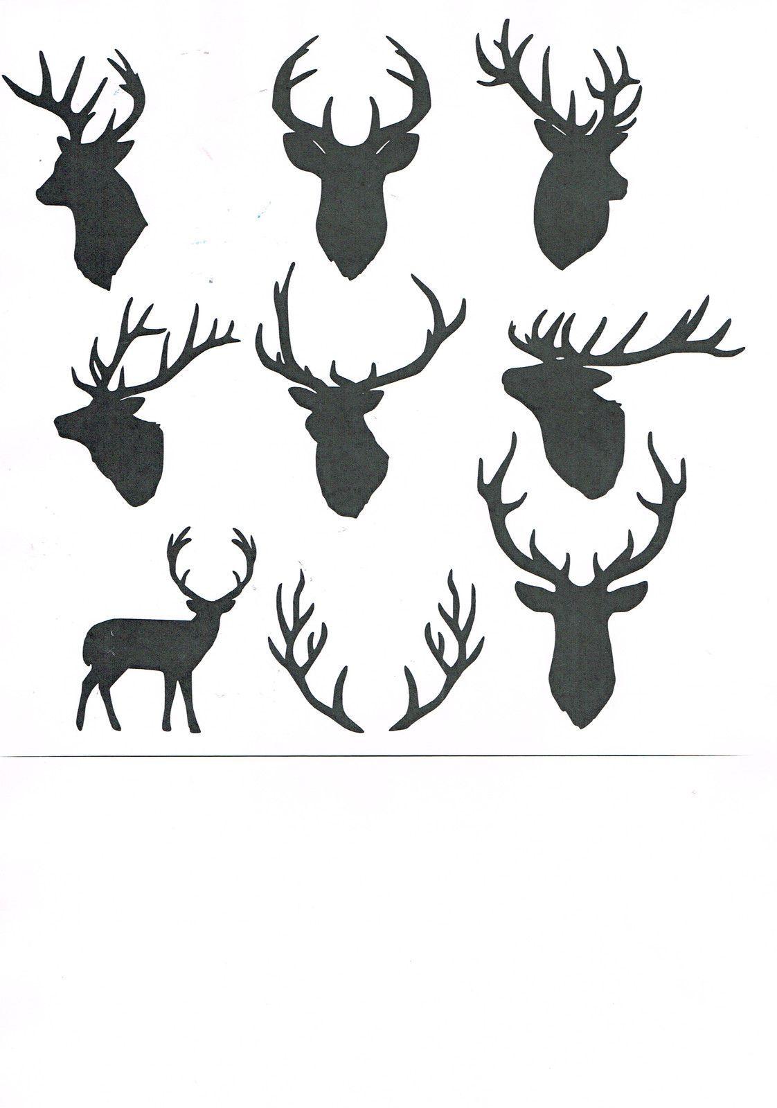 "Deer Skull 190m Mylar Stencil 6 x 6 /"" 8 x 8 /"" 12 x 12/"""