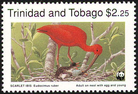 Scarlet Ibis stamps - mainly images - gallery format