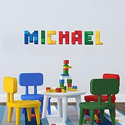 3D Brick Block Name Aufkleber Wand Art Decor Maßgeschneiderte Baby Name Aufkleber Personalisierte Kinderzimmer Wandtattoo Alphabet Wandbild