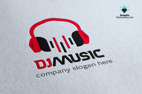 dj music logo template logo templates logos and music logo