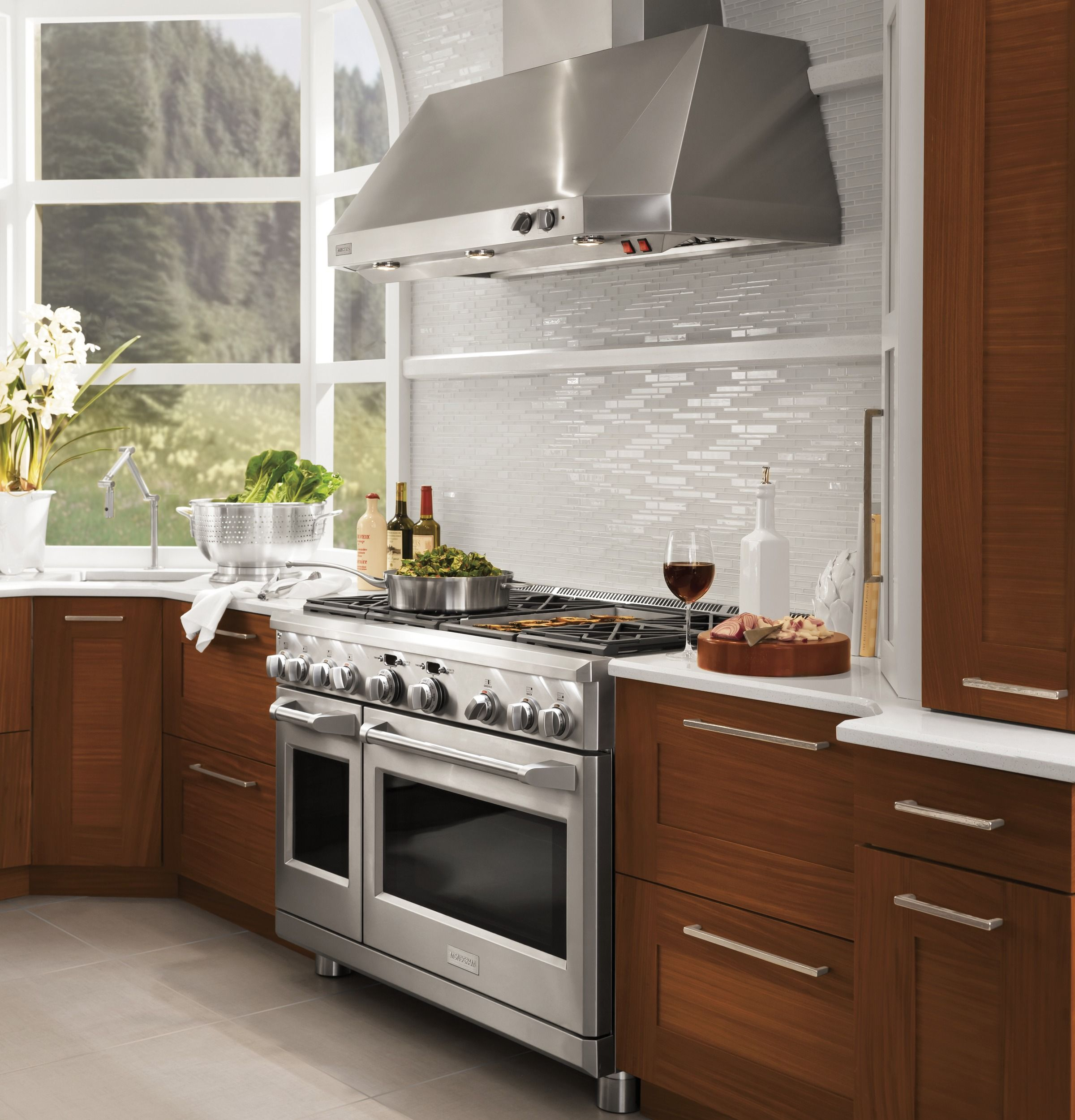 """Stainless Steel Kitchen Cabinets With Oven: Monogram® 48"""" Stainless Steel Professional"""