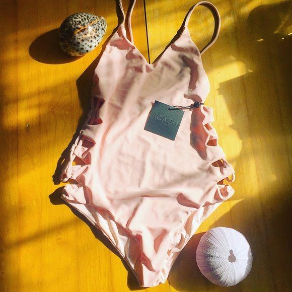 $205 ️️ NWT Florence in Sunrise acacia swimwear Swim One Pieces