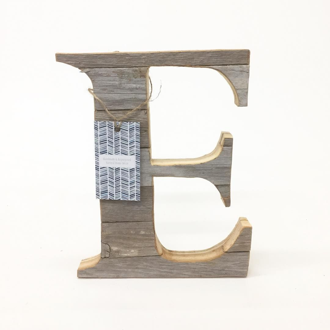 Letter E Wall Decor Barn Wood Letter E Wall Décor  Woodland Baby Décor  Boho Wall
