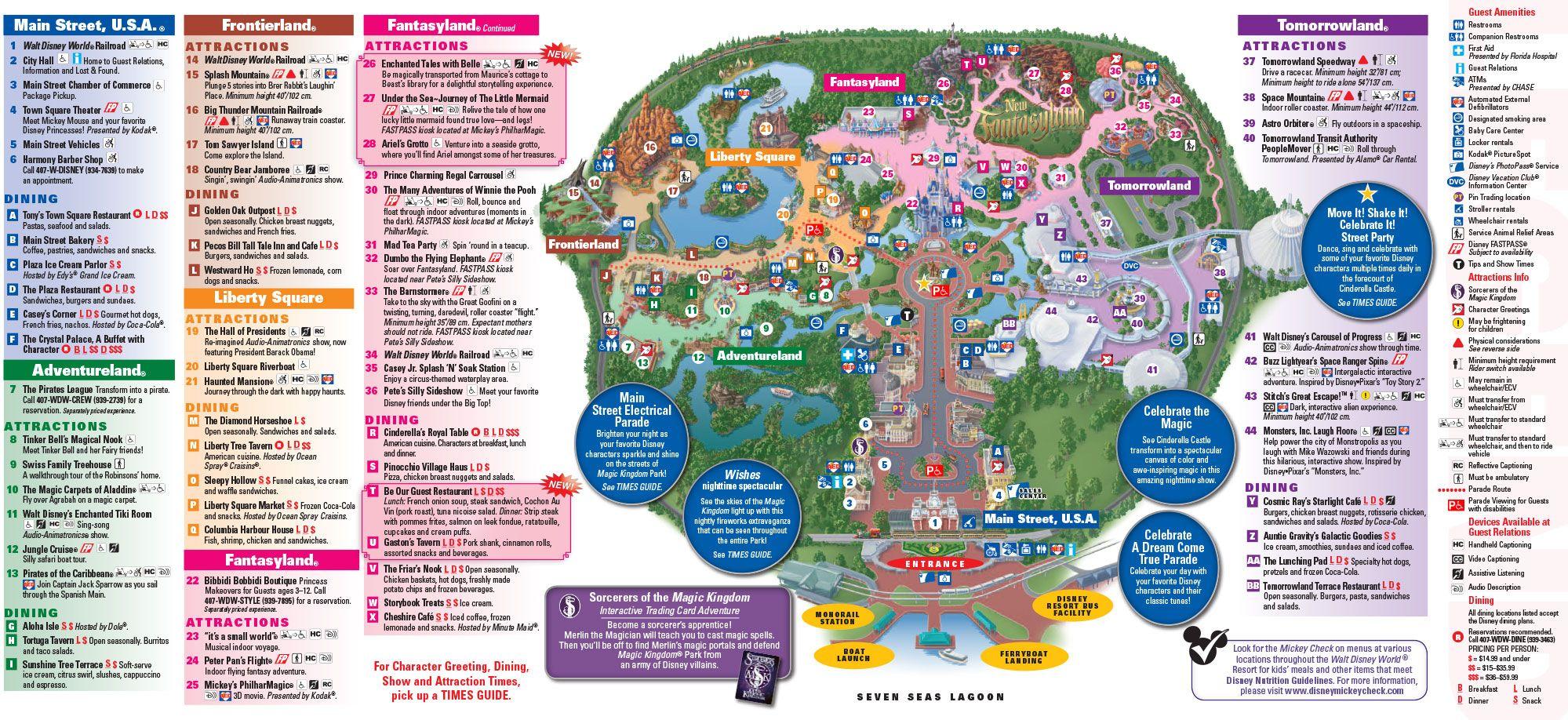 full map of magic kingdom park in walt disney world florida enjoy