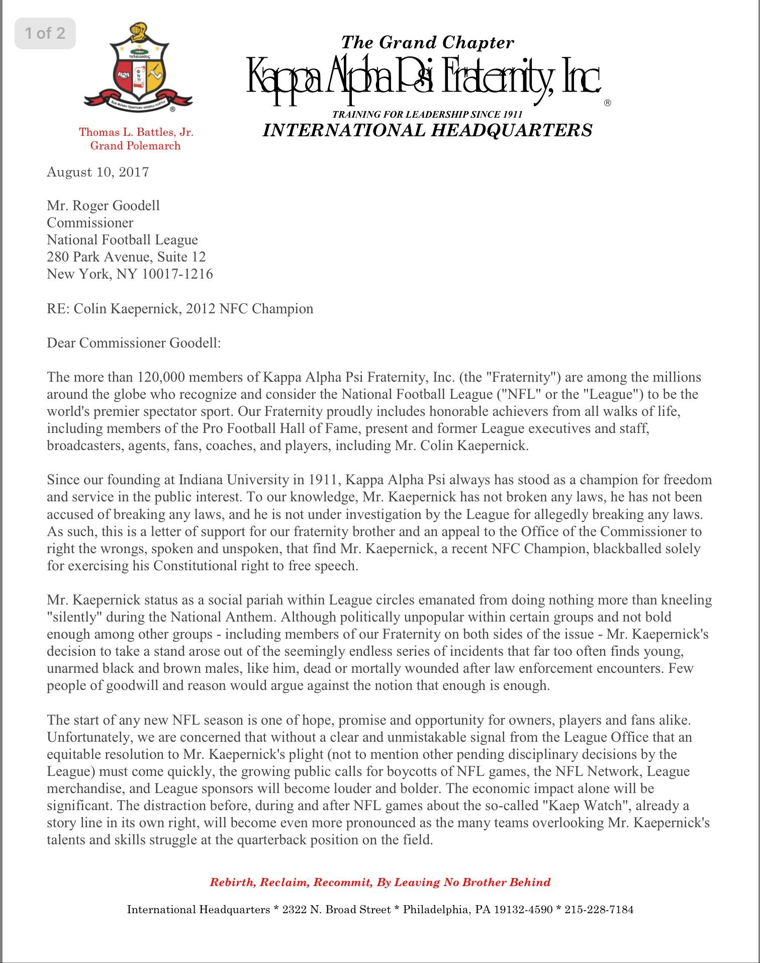 Fraternity letter of recommendation image collections letter the official press release from kappa alpha psi fraternity inc spiritdancerdesigns Choice Image