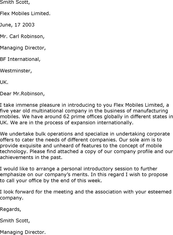 the company introduction letter can help you make