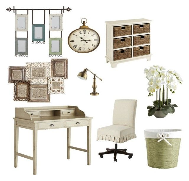 """""""Office Decor - vintage style"""" by shistyle ❤ liked on Polyvore featuring interior, interiors, interior design, home, home decor, interior decorating, Pier 1 Imports, Homelegance and vintage"""