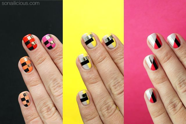 3 Funky Nail Art Ideas To Try This Weekend Tutorials Provided