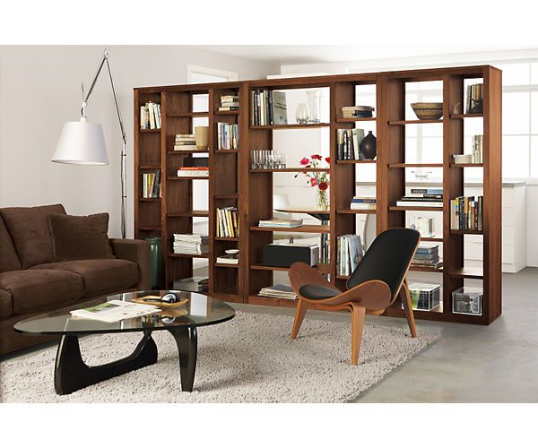 Room Divider For Basement Guest Hangout Lounge Woodwind 72h Open Back Bookcases