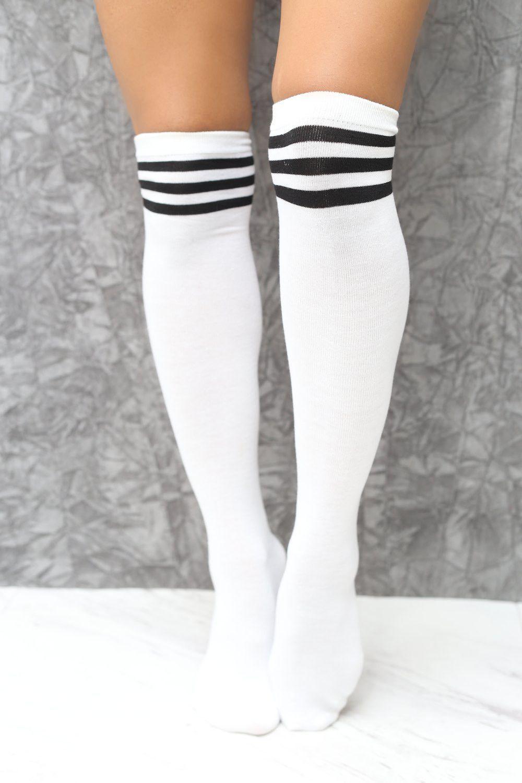 1a3fd5ce8 High   Tight thigh-high sports socks