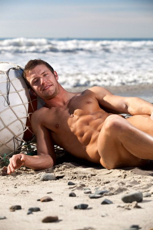 Sexy men on the beach