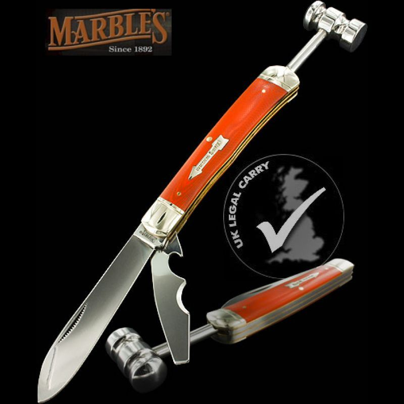 Marbles Workman Series Trapper With Hammer Trapper Marble Hammer