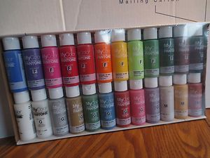 USA made Colorful assort. Acrylic Paint 24 bottles Different Colors Pantone