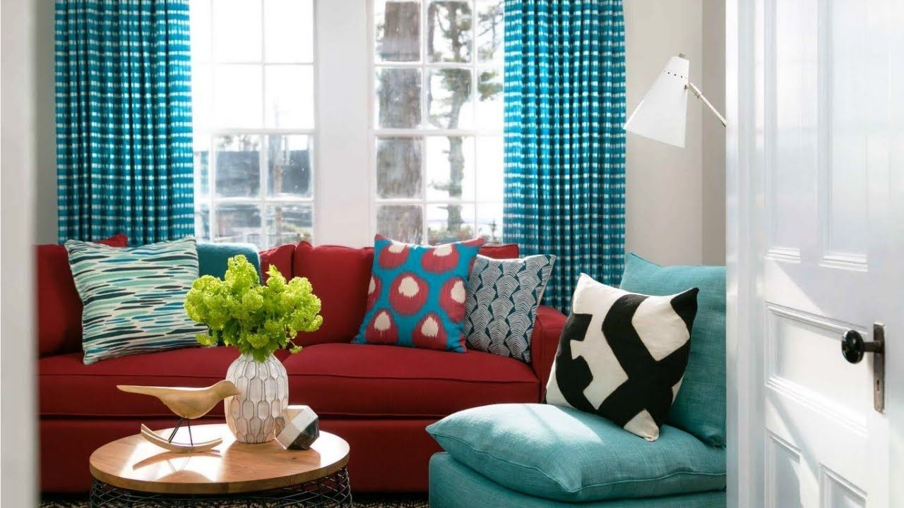 Bright Turquoise And Red Interior Design Ideas