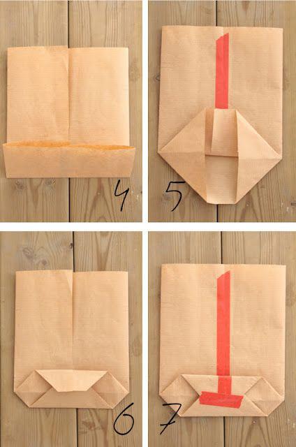 4ccbdeca7 Cómo hacer una bolsa de regalo | REGALOS | Hacer bolsas de papel ...