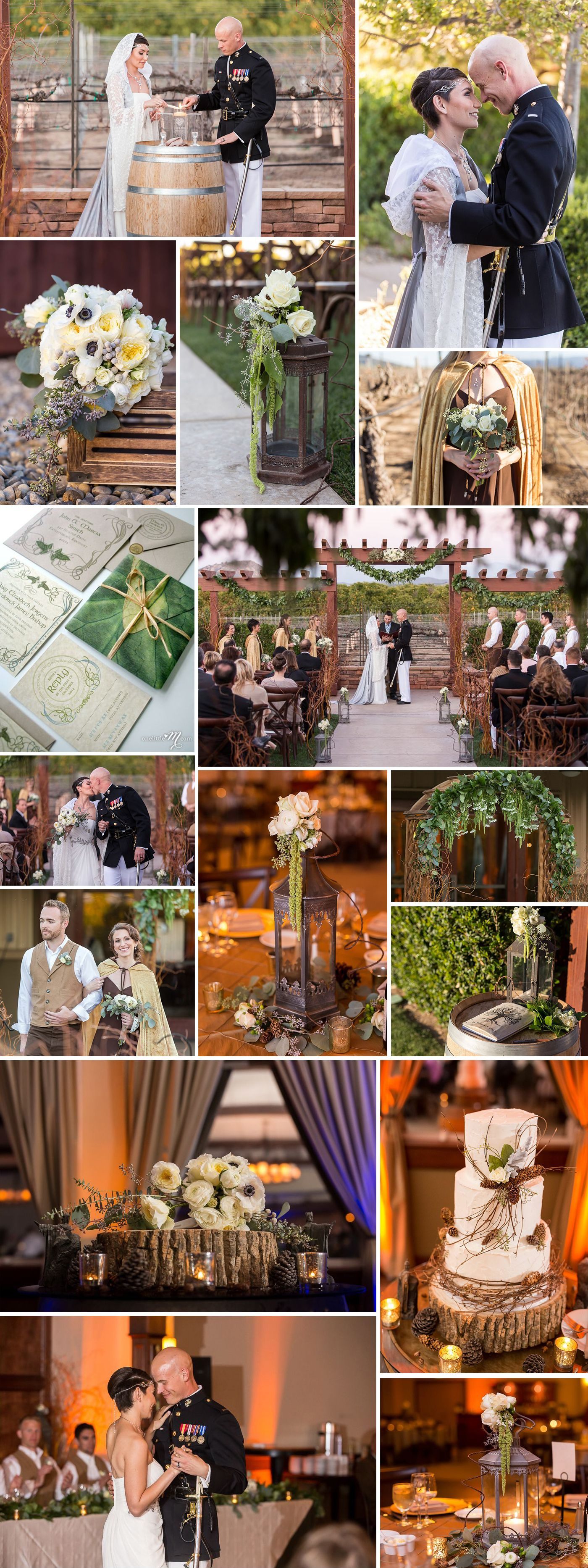 The Lord Of The Rings Wedding Theme Love The Mix Of Whimsey And