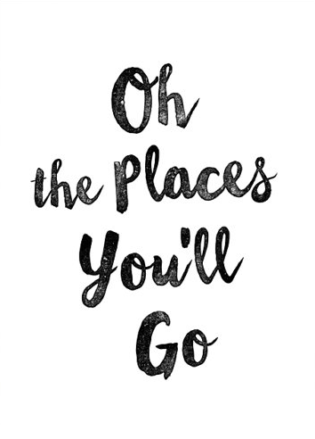 Quote Print Oh The Places You 39 Ll Go Dr Seuss Print Scandinavian Print Wall Decor Inspirational Poster Wisdom Quote Wisdom Quotes Quote Prints Words