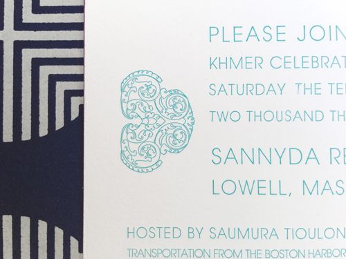 Cambodian wedding invitation detail By Shindig For a shindig