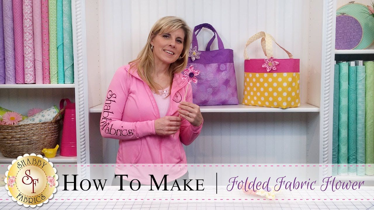 How to Make a Folded Fabric Flower with Jennifer
