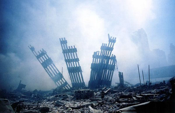 9/11 picture: ground zero not long after the twin towers collapsed