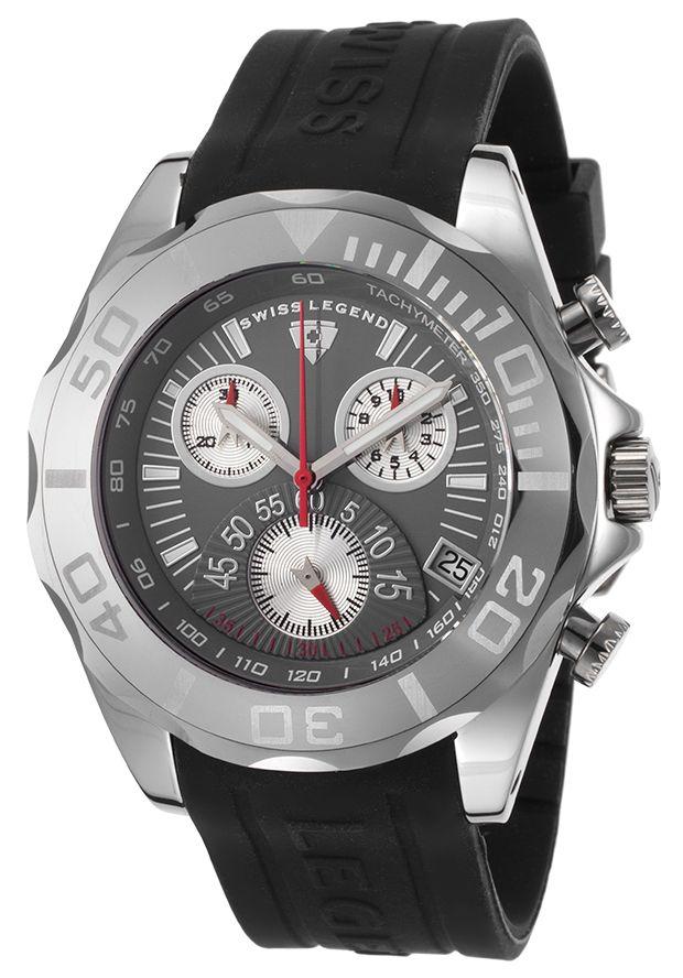 Swiss Legend 18010-014 Watches,Men's Chronograph Grey Dial Tungsten, Casual Swiss Legend Quartz Watches