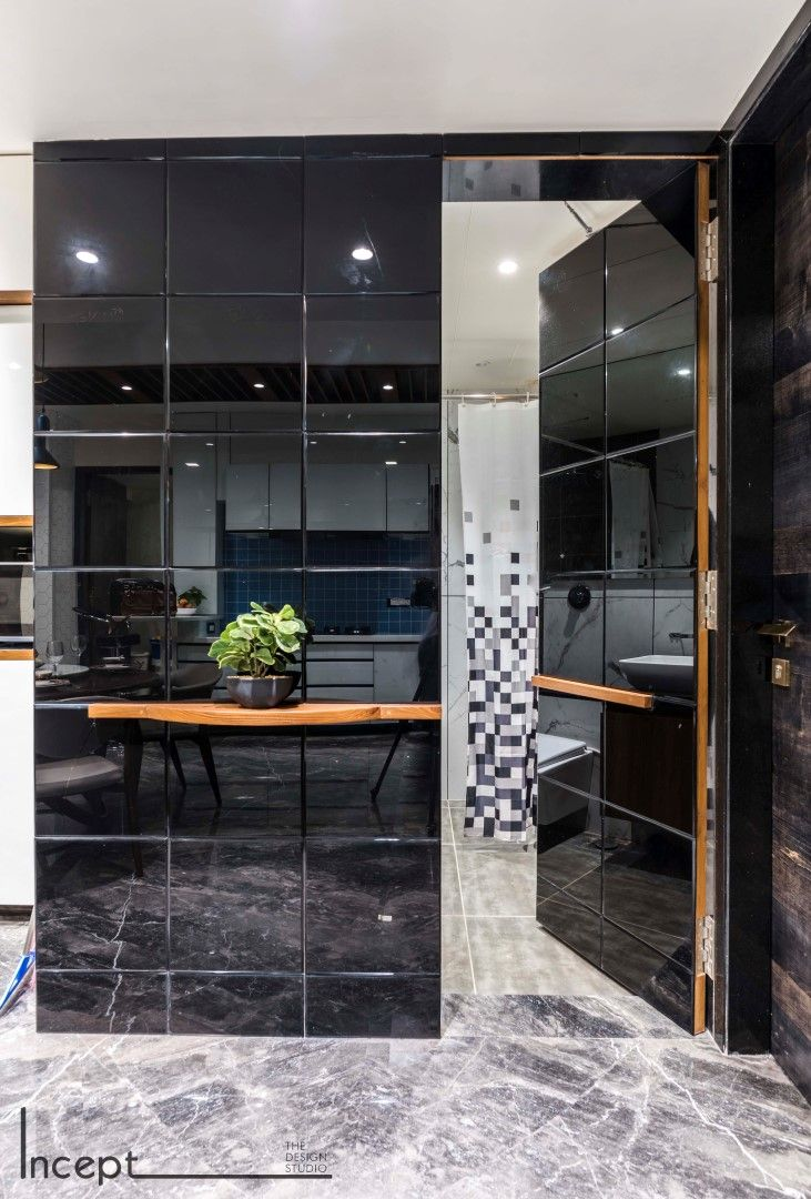 Decor concept is simple and colourful also an industrial apartment dotted with memories foyer pinterest rh