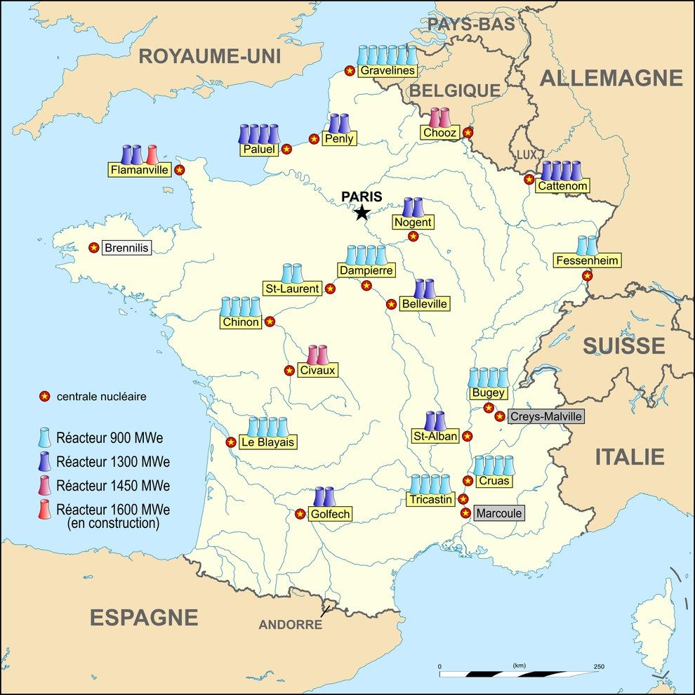 16 Maps That Will Change How You See France Centrale Nucleaire