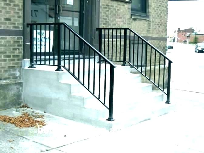 Stair Iron Railing Outdoor Wrought Iron Stair Railing Exterior | Exterior Iron Stair Railing | Temporary | Front Step | Aluminum | Front Entrance | Fancy